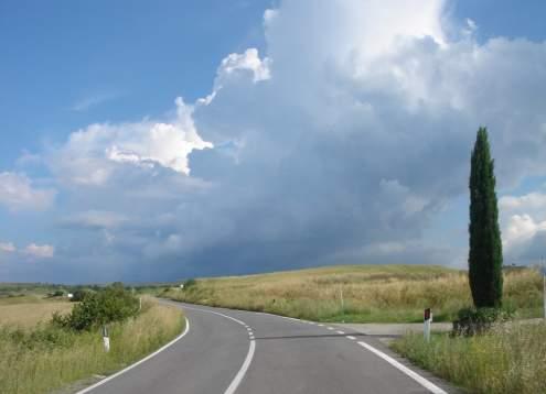 Vista storm over san giovanni