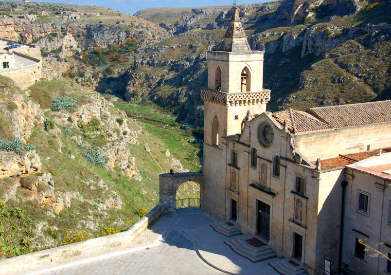 Matera church and view