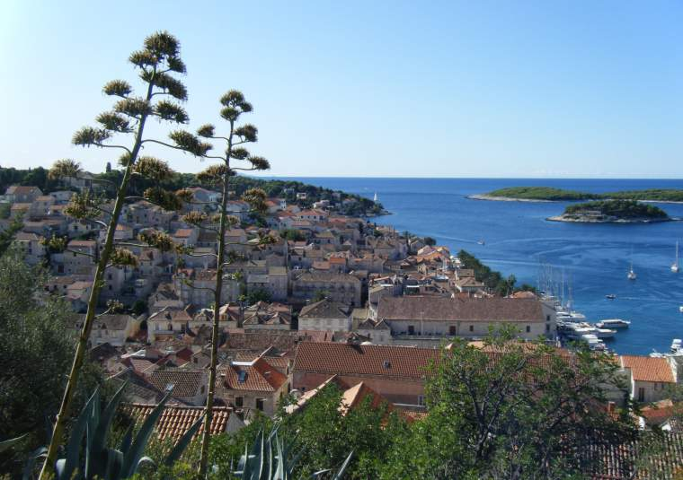 Hvar town from above left